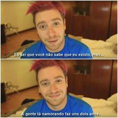 Amo as frases do lubinha ♡-♡ Youtubers, Shawn Mendes, Streamers, Funny Memes, Humor, Anime, Two Men, Glove, Positive Words