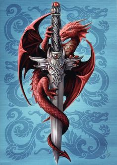 Dragon and Dagger ~ Anne Stokes