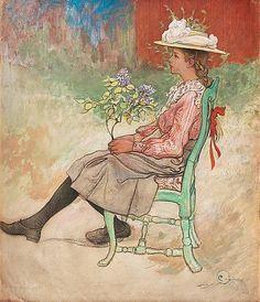 Spring 1909 ~ Carl Larsson ~ (Swedish 1853-1919)