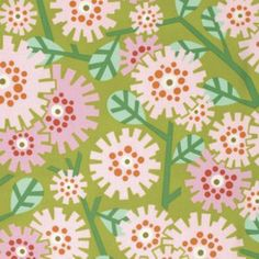 Heather Bailey - Clementine - Dandybloom in Olive