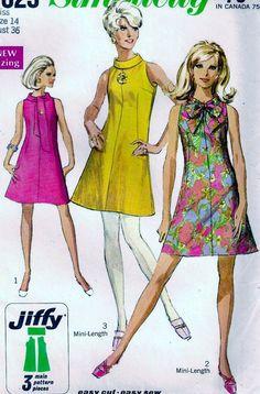 Vintage 60 s simplicité 7625 JIffy Mini par vintagepatternstore