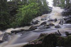 Varisköngäs waterfall in Suomussalmi Finland, Roots, Waterfall, Explore, Outdoor, Outdoors, Waterfalls, Outdoor Games, Outdoor Living