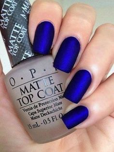 Risultati immagini per unghie french blu elettrico Unghie Blu Scuro, Chiodi  Metallici, Rosso Scuro