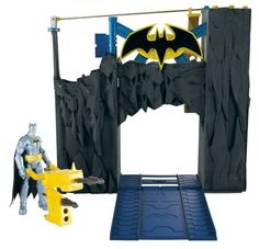 Batman Power Attack Blast and Battle Batcave Play Set by Mattel. $19.97. Help Batman take down the bad guys in his Batcave. Multiple activation points enhance the action for crime-fighting thrills. Kids will love playing out their own Batman Stealth Strike missions. Shoot projectiles, ride the elevator, and zip-line to knock intruders into jail. The ultimate Power Attack environment, the Batcave. From the Manufacturer                Batman Power Attack Blast and Battle Batc...