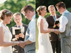 Outdoor Ceremony // Scott and Mary's Wedding at the Oak Brook Bath and Tennis Club » Two Birds Photography