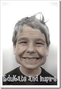 Use the Aging Booth App for 100th Day of School Photos!