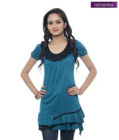 Remanika Ravishing Frilly Blue Top (MR-BRITNEY1) a8d8549d9