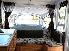 New cushions in pop up camper #KONI #KONIImproved #KONIExperience