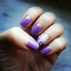 My nails. .Patrice...#viola#colors#flowers#white#nail#nailsart#designer#fashion#outfit#cosmetic#vernize