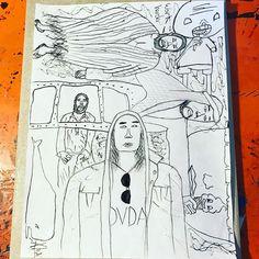 David Choe fan art by @grapeapegorilla