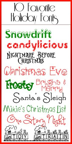 FREE Holiday Fonts....these are my FAVORITE!