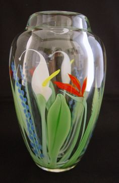 Orient and Flume Crystal Cased Callalily Bouquet Vase #412