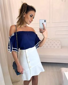 DOCE FLOR (@doceflorsp) • Fotos e vídeos do Instagram Trajes Business Casual, Business Casual Outfits, Look Fashion, Fashion Outfits, Womens Fashion, Dress Skirt, Dress Up, Girls Dresses, Summer Dresses