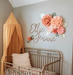 Paper Flowers Wall Decor, Paper Flowers for Girls Room, Floral Nursery, Blush Pink paper flowers with rose gold leaves, rose gold nursery Paper Flower Wall, Flower Wall Decor, Flower Backdrop, Wall Flowers, Floral Bedroom Decor, Giant Flowers, Floral Flowers, Nursery Wall Decor, Baby Room Decor