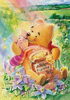 Winne The Pooh, Cute Winnie The Pooh, Winnie The Pooh Quotes, Arte Disney, Disney Art, Winnie The Pooh Pictures, Lilo Et Stitch, Mosaic Pictures, Eeyore
