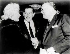 Marilyn with Milton Berle and J. Edgar Hoover