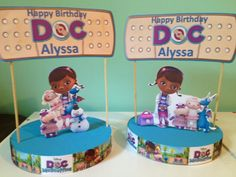 Doc McStuffins Birthday Party Cupcake Toppers Doc McStuffins