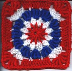 cool way to use bullion stitch in a granny square