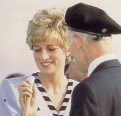 November 3, 1992: Princess Diana during the visit to Seoul, Korea.
