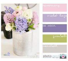 lilac, olive and grey I like this colour combo
