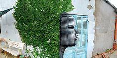 by Fausto M Graffiti Art, Street Art, Apple Art, Sculpture, City Art, Topiary, Go Green, Urban Art, Art Pictures