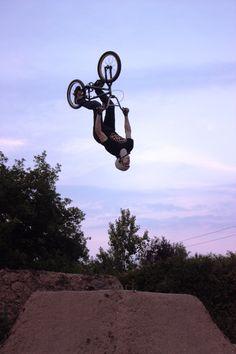 5965b86168 BMX rider CRAIG TEAGUE hits a flip at an evening trails session.