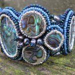 Cuff Abalone. Wow, this lady has pretty cool jewelry.