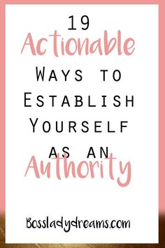 If you want to be a successful entrepreneur in any field, the number one  thing you need to work on is establishing yourself as an authority. Being an authority,