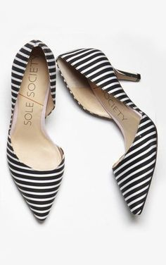 Stripe D'orsay Pumps , from Iryna