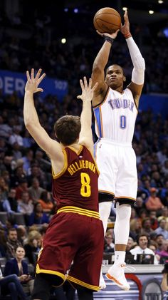 580a8df93 Oklahoma City Thunder  Russell Westbrook takes control as Thunder starts to  roll - Article Photos - Photo Gallery