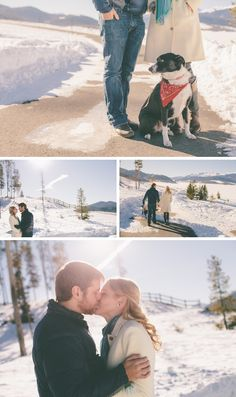 Cute winter engagement session  by Jessica Christie Photography