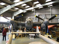 RAF Mosquito taken from the front of an RAF Vampire jet fighter
