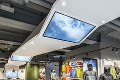 The North Face London on Regent Street, inspires customers' inner-explorer with a community hub, life-oriented categorization, and an in-store forest canopy