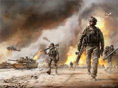 Military Art Print