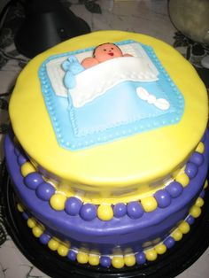 Lakers baby shower cake