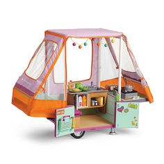"""Truly Me Adventure Pop-Up Camper - available in select stores only - American Girl - Toys """"R"""" Us"""