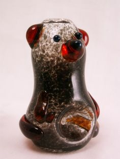 Black Bear Glass Pipe and Honey Jar
