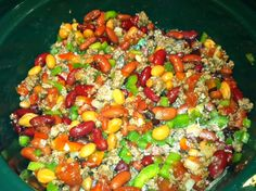 Organic chili  crock-pot recipe