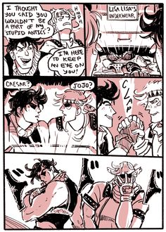 That's your mom's panties Joseph do you even know what you're getting yourself into - Tags - Joseph Joestar - Caesar Zeppelli - JJBA - Comic