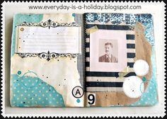 Everyday is a Holiday: Art Journaling with Jenny & Aaron class 1