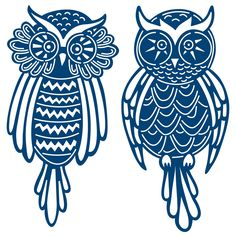 Add these adorable owls as the focal point on your cards and crafts. Comes with two different owl dies to mix and match.Tattered Lace dies, designed by Stephanie Weightman, are some of the most intricate wafer-thin dies available. This brand from England will soon be one of your favorites. Their selection includes wonderfully delicate flowers, frames, birds, butterflies, holiday shapes and more!Wafer-thin dies with intricate details may require the use of machine-specific metal adapters or…