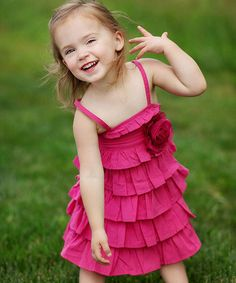 Take a look at this Fuchsia Frilly Ruffle Dress - Infant & Toddler by RuffleButts on #zulily today!