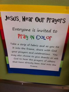 Has several photos of what this looks like - very cool idea for Bible School? Summer Sunday School?