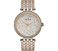 Caravelle New York Women's Two-Tone Crystal Watch