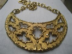 "Jomaz neckpiece called ""The Dreamer""  1980s available at www.etsy.com/shop/vintagecouturejewels"