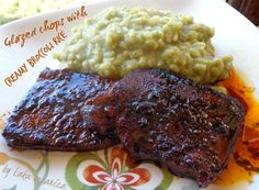 Glazirani kotleti s kremastom rižom :: Glazed chops with creamy broccoli rice   Laka kuharica - Easy Cook