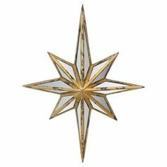 """Create an eye-catching focal point in your entryway or living room with this metal wall decor, showcasing a star silhouette.  Product: Wall decorConstruction Material: Metal and glassColor: GoldFeatures: Star silhouetteDimensions: 23"""" H x 17.5"""" W x 2.5"""" D"""