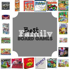 I want to play more board games with my grandchildren this year. Best Family Board Games #PinYourResolution