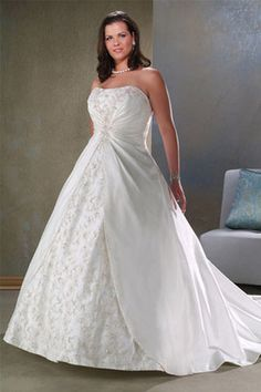 The best choice -plus size wedding dresses with plus-A-100022