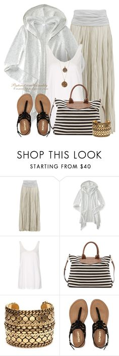 """""""Boho Beach Chic"""" by casuality ❤ liked on Polyvore featuring Donna Karan, Aéropostale, Topshop, Sole Society, DANNIJO and Bee Charming"""